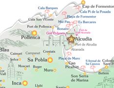 Mallorca Karte Alcudia.Ferienhaus Sierras Auf Mallorca Mieten Finca Ferienhaus