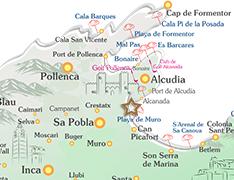 Playa De Muro Karte.Muro Im Mallorca Reisefuhrer Finca Ferienhaus Mallorca