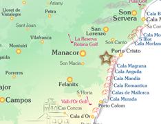 Porto Cristo Karte.Finca Vergan Auf Mallorca Mieten Finca Ferienhaus