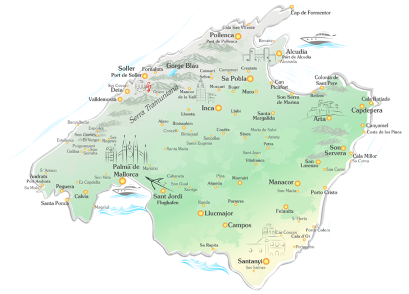 Cala Ratjada Karte.Mallorca Reisefuhrer Mit Detaillierter Karte Finca